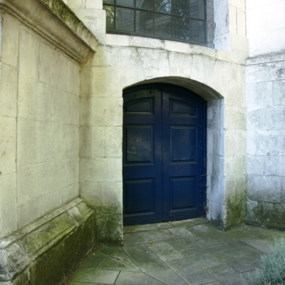 Ground level door